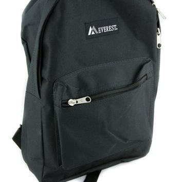Plain Black Backpack School Bag DIY Design