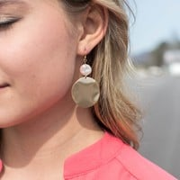 Calloway Earrings, Gold