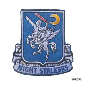 USA army 160th aviation night stalkers patch hookcombat tactical spspecial force Military Patch morale outdoor  for jacket vest