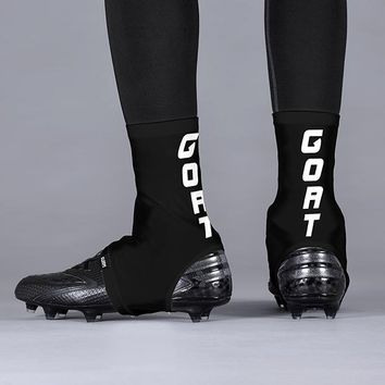 Goat Word Black White Spats / Cleat Covers