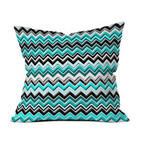 Turquoise Electricity Throw Pillow