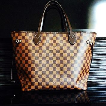 LV Tide brand classic old flower female shopping bag handbags mother bag two-piece