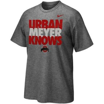 Nike Ohio State Buckeyes Urban Meyer Knows T-Shirt - Gray