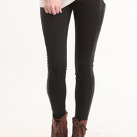 Nollie Faux Leather Insert Leggings at PacSun.com