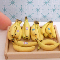 Miniature Dollhouse Bananas