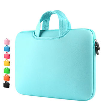 "8 color Neoprene laptop notebook case sleeve bag Clutch Wallet Computer Pocket for Macbook Pro Air Retina 11"" 12"" 13"" 15"""