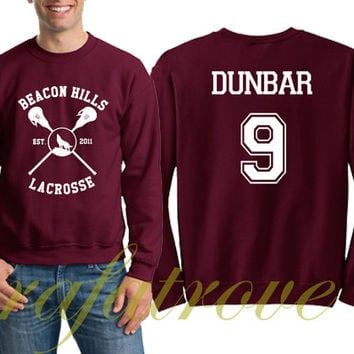 Dunbar Sweatshirt Beacon Hills Teen Wolf 9 Number Unisex Sweatshirts - RT103
