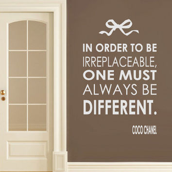 Wall Vinyl Sticker Decals Decor Art Bedroom Design Mural Words Sign Quote Coco Chanel  (z3158)