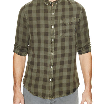 Neuw Denim Men's Bob Checked Sportshirt - Green -