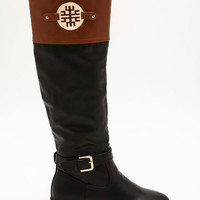 Medallion Knee High Boots
