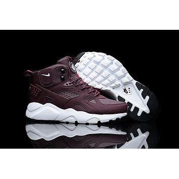 Air Huarache Run Ultra High Wine Red Sneaker Shoes