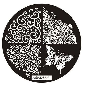 1PC Good Quality 2016 Butterfly Pattern Nail Art Image Stamp Stamping Plates Manicure Template Nail Art Tool
