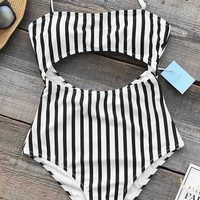 Cupshe Eternal Summer Stripe One-piece Swimsuit