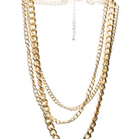 Tiered Chunky Chain Necklace | Wet Seal