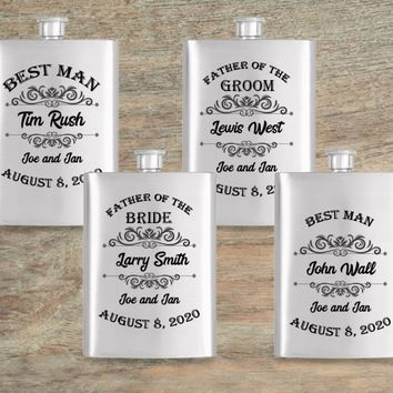 Groomsmen Gift Flask - Gift Flask - Groomsmen Flask - Best Man Gift - Personalized Flask - Wedding Gift - Gift For Groom - Groom Gift
