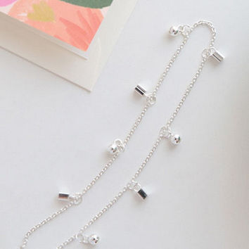 Stylish Ladies Jewelry Sexy Shiny Cute New Arrival Gift Bells 925 Silver Korean Accessory Simple Design Strong Character Summer Lovely Anklet [8379652615]