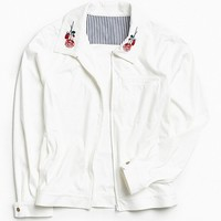 It Won't Last Faux Suede Embroidered Mechanic's Jacket | Urban Outfitters