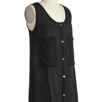 Back for Noir Top | Mod Retro Vintage Short Sleeve Shirts | ModCloth.com