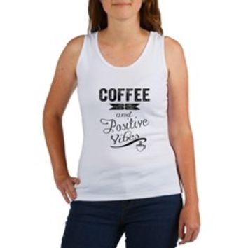 Coffee and Positive Vibes Tank Top> Coffee and Positive Vibes> Sheldon To Mr Darcy Art by Alice Flynn