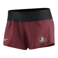Florida State Seminoles Nike Women's Gear Up Crew Short - Black