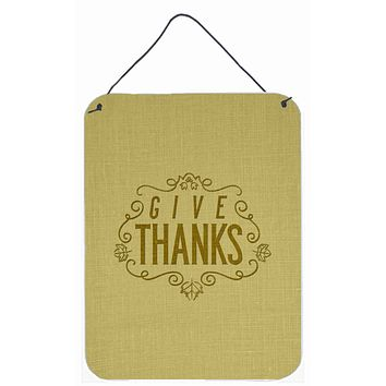 Give Thanks Wall or Door Hanging Prints BB5469DS1216