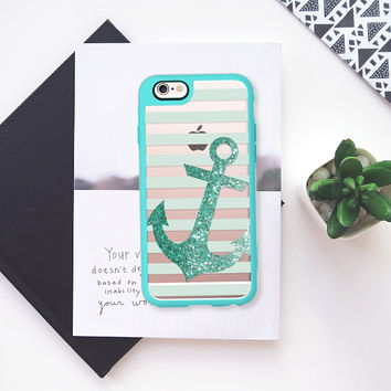Glitter Anchor in Mint iPhone 5s case by Nika Martinez | Casetify