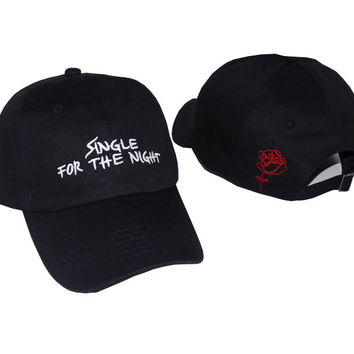 Single for the Night Embroidered Baseball Cap Hat