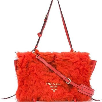 Prada Fur Pattina Shearling Bag