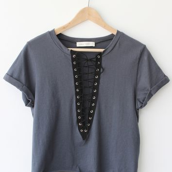 Fiona Lace Up Top