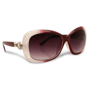 Burgundy Bifocal 2.25 Magnification Sun Reading Glasses