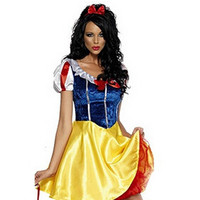 Plus Size Adult Snow White Costume Carnival Halloween Costumes For Women Fairy tale Clothes Dress Female XL
