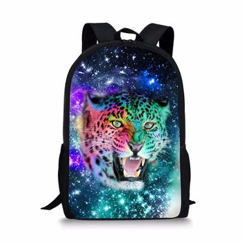Cool Backpack school FORUDESIGNS Personalized Printing Horse Backpack for Teen Girls Cool Galaxy Star Kids School Bagpack Middle Children Rucksack AT_52_3