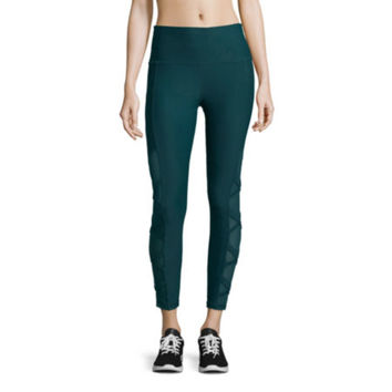 Xersion High Rise 7/8 Mesh Inset Leggings - JCPenney