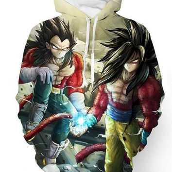 Super Saiyan 4 Goku & Vegeta Dragon Ball Z Hoodie