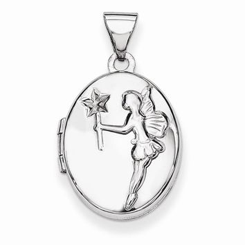 Sterling Silver 17mm Oval Fairy Wishes Locket