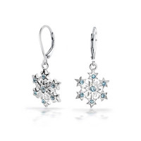 Bling Jewelry Topaz Snow Earrings
