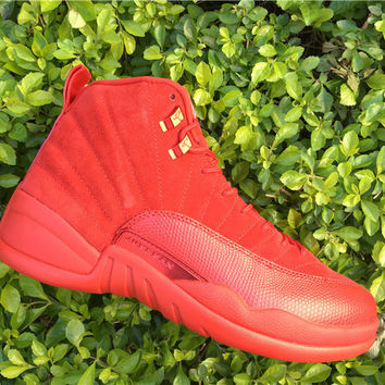 AIR JORDAN 12 (RED OCTOBER - SUEDE) BASKETBALL SNEAKER