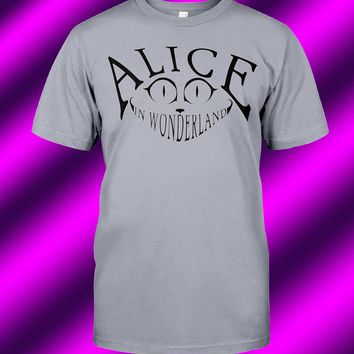 Alice in Wonderland, Cheshire Cat Unisex T-Shirt - Any Color Shirt Available