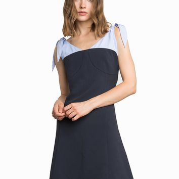 NUMERO SHOULDER SCARF TIE DRESS