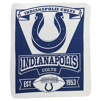 Indianapolis Colts MARQUEE Large Lightweight 50x60 Fleece Throw Blanket Football