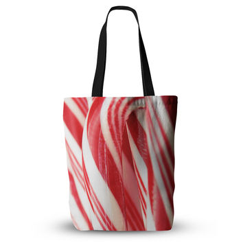 "Beth Engel ""The Painted Forest"" Candy Cane Everything Tote Bag"