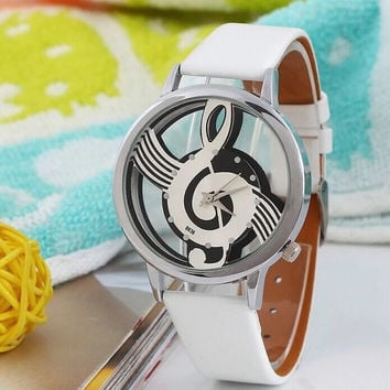Gift Designer's New Arrival Stylish Awesome Good Price Great Deal Trendy Double Sided Transparent Hollow Out Music Children Casual Watch [11649620943]
