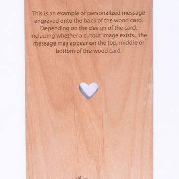 Wood Card Personalized Message (Add On)