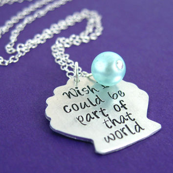 Little Mermaid Necklace - Ariel Seashell Necklace - Wish I Could Be Part of That World