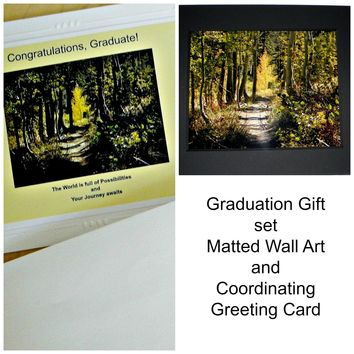 School Graduation Gift: Wall Art and Greeting Card by PonsArt $32.00