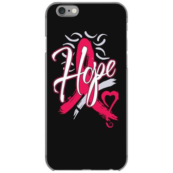 breast cancer awareness hope ribbon heart iPhone 6/6s Case