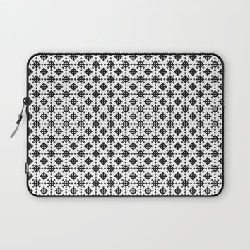 Celtic cross pattern Laptop Sleeve by Moonlit Emporium