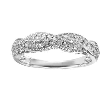 Simply Vera Vera Wang Diamond Twist Engagement Ring in 14k White Gold (1/3 ct. T.W.)