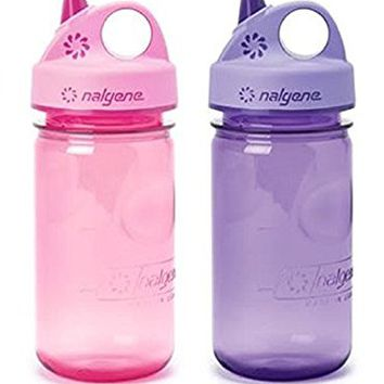 Nalgene Everyday Grip-N-Gulp Water Bottle for Kids Pink / Purple Set