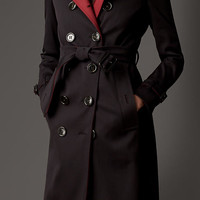 Contrast Detail Trench Coat with Warmer